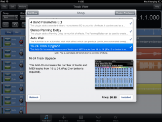 Meteor Multitrack DAW for iPad - 16 -24 Track Upgrade In-App Special Offer